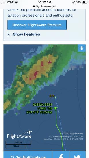 Flight Aware Tal KSTF Trip